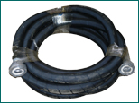 Conveying hose rubber